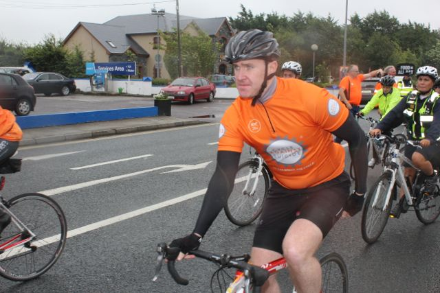 Cyclists get on the road at the start of the Cycle Against Suicide Spinoff in Tralee on Saturday. Photo by Dermot Crean
