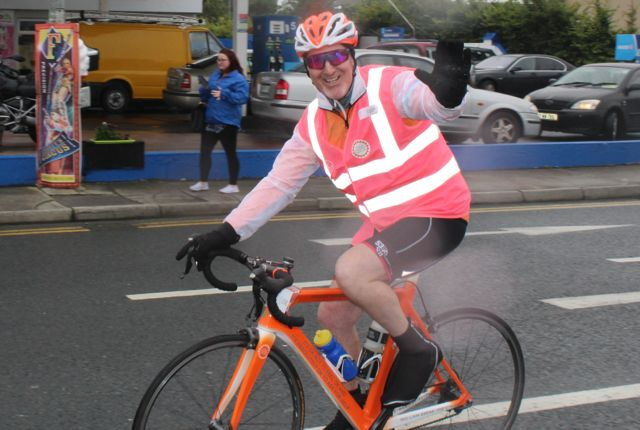 A cyclist gets on the road at the start of the Cycle Against Suicide Spinoff in Tralee on Saturday. Photo by Dermot Crean