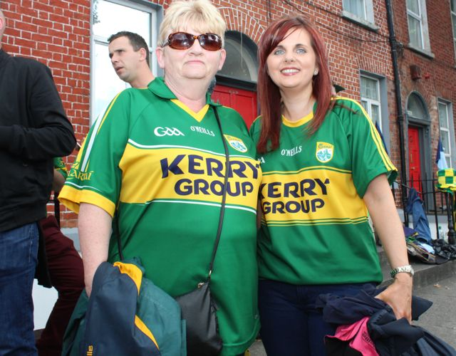 Bernadette and Joanne Ahern, Castleisland, up for the match on Sunday. Photo by Dermot Crean