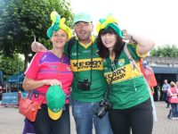 Anne Fleming, Pat Fleming and Gail Tangney, up for the match on Sunday. Photo by Dermot Crean