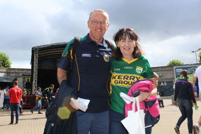 Joe and Marina Sheehy, Tralee, up for the match on Sunday. Photo by Dermot Crean