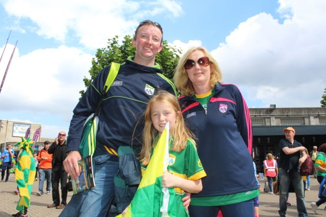 Michael, Laura and Kathleen Fitzgerald, Killarney, up for the match on Sunday. Photo by Dermot Crean