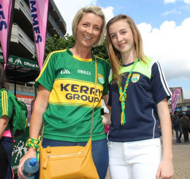 Lorraine and Niamh Andrews, up for the match on Sunday. Photo by Dermot Crean