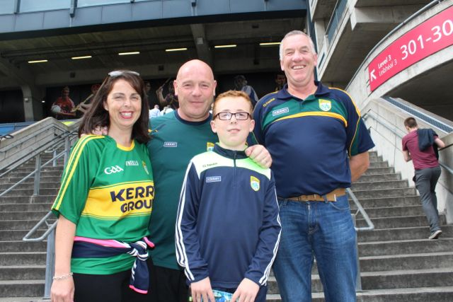 Mary Kelly, Brendan Kelly, Ronan Kelly and Noel Dolan up for the match on Sunday. Photo by Dermot Crean