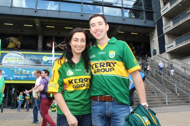 Cathy Hayes and James Moriarty, Castlemaine, up for the match on Sunday. Photo by Dermot Crean