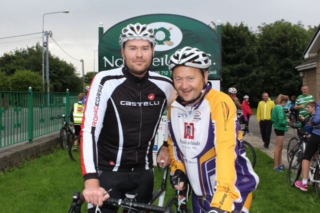 Ken Keohane and John Murray at the Na Gaeil GAA Club annual cycle on Saturday morning. Photo by Dermot Crean