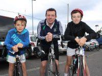 Edward, Morgan and Graham Sheehy at the Na Gaeil GAA Club annual cycle on Saturday morning. Photo by Dermot Crean