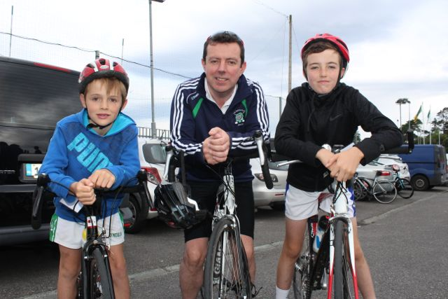 Edward, Morgan and Graham Sheehy at the Na Gaeil GAA Club annual cycle on Saturday morning. Photo by Dermot Crean