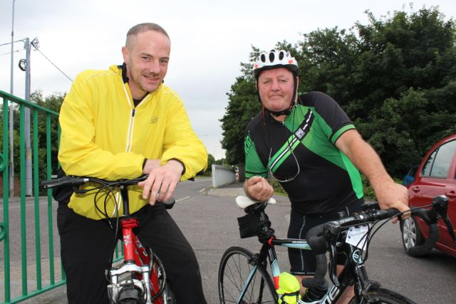 John McSweeney and Ger Carroll at the Na Gaeil GAA Club annual cycle on Saturday morning. Photo by Dermot Crean