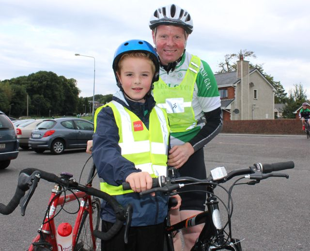 Kevin and Barry O'Donoghue at the Na Gaeil GAA Club annual cycle on Saturday morning. Photo by Dermot Crean