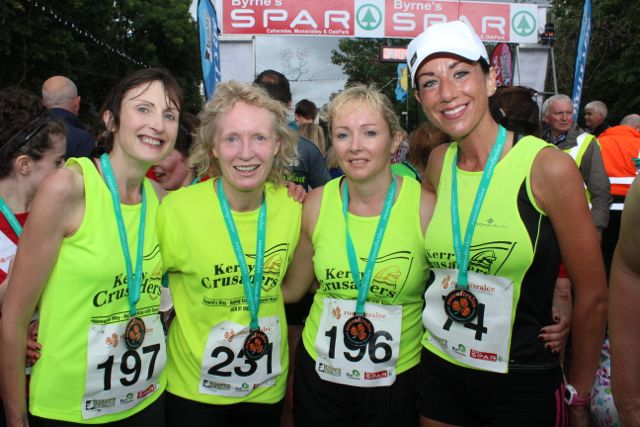 Ena McEvoy, Catherine Kirby, Michelle Sheehy and Rachel Stokes at the Rose of Tralee 10k Run on Sunday afternoon. Photo by Dermot Crean