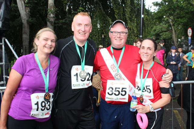 Suzanne and John Chute with Paul and Darragh Stephenson at the Rose of Tralee 10k Run on Sunday afternoon. Photo by Dermot Crean