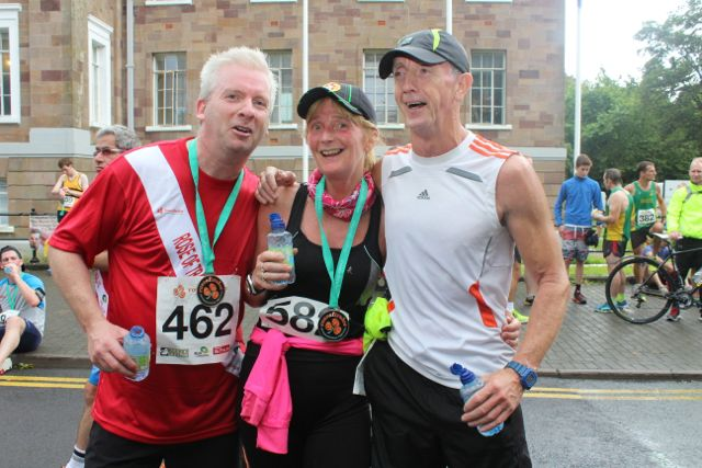 Martin Moore, Lesley Galvin and Billy Walsh at the Rose of Tralee 10k Run on Sunday afternoon. Photo by Dermot Crean