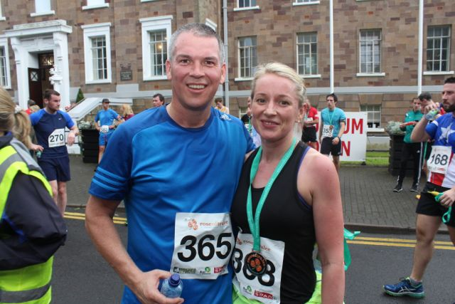 Nigel and Lorraine Doorley at the Rose of Tralee 10k Run on Sunday afternoon. Photo by Dermot Crean