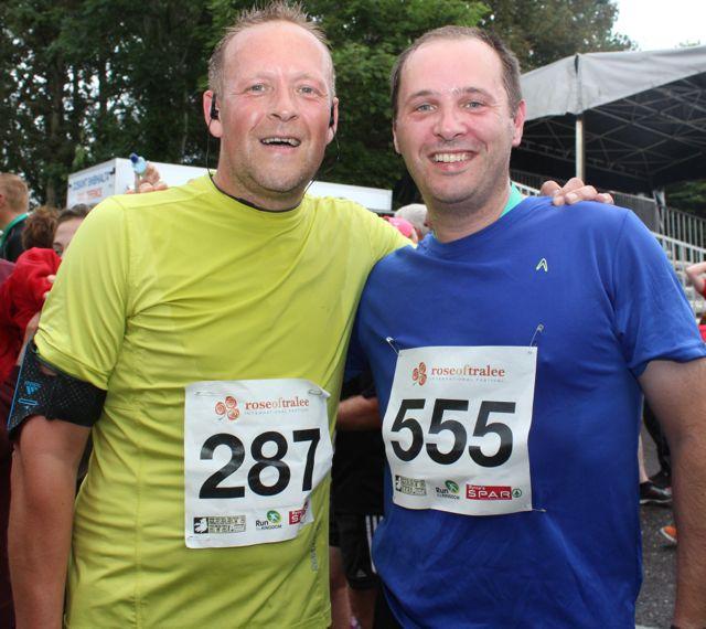 Joe Looby and Joe Bunyan at the Rose of Tralee 10k Run on Sunday afternoon. Photo by Dermot Crean
