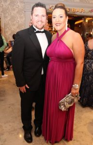 Jamie and Brandy Field at The Rose Hotel before the Rose Ball on Friday evening. Photo by Dermot Crean