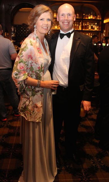 Lorna and Kevin Leane at The Rose Hotel before the Rose Ball on Friday evening. Photo by Dermot Crean