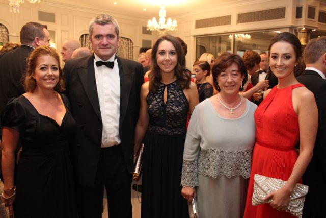 Anne Looney, Eoin Kelliher, Ciara Looney, Sheila Looney and Grace Looney at The Rose Hotel before the Rose Ball on Friday evening. Photo by Dermot Crean