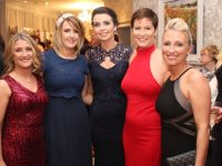 Catherine Tobin, Leanne Ryan, Geraldine Coffey, Siobhan Fitzpatrick and Nicola Sheehy at The Rose Hotel before the Rose Ball on Friday evening. Photo by Dermot Crean