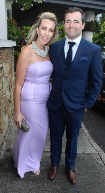 Thomas Cournane and Una Glazier Farmer at The Rose Hotel before the Rose Ball on Friday evening. Photo by Dermot Crean