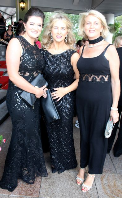 Laura Sheehy, Yvonne and Marie Liston at The Rose Hotel before the Rose Ball on Friday evening. Photo by Dermot Crean