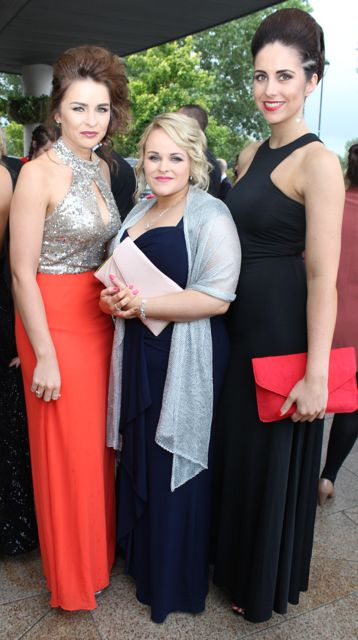 Erin Horan, Sharon O'Brien and Jamie Louise Bowler at The Rose Hotel before the Rose Ball on Friday evening. Photo by Dermot Crean