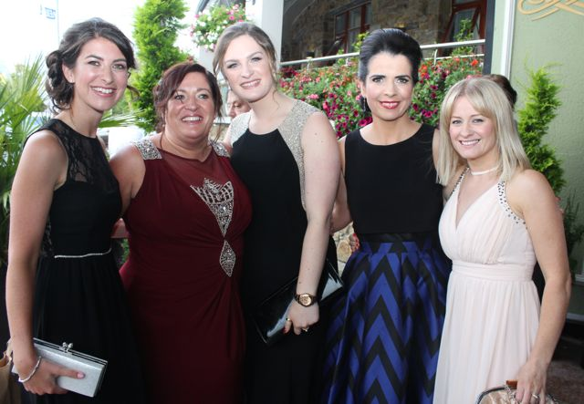 Amy Keller, Anita Brosnan, Laura Brosnan, Maeve and Aileen Leahy at The Rose Hotel before the Rose Ball on Friday evening. Photo by Dermot Crean