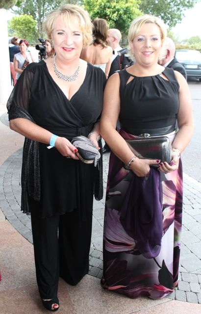 Geraldine Quirke and Bernie O'Connell at The Rose Hotel before the Rose Ball on Friday evening. Photo by Dermot Crean
