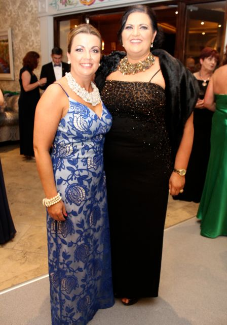 Grainne and Majella O'Sullivan at The Rose Hotel before the Rose Ball on Friday evening. Photo by Dermot Crean