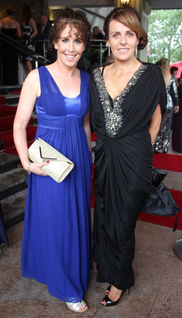 Mags O'Sullivan and Sandra Leahy at The Rose Hotel before the Rose Ball on Friday evening. Photo by Dermot Crean