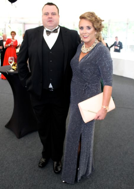 Chris Moore and Lisa Martin at the Rose Ball on Friday evening. Photo by Dermot Crean