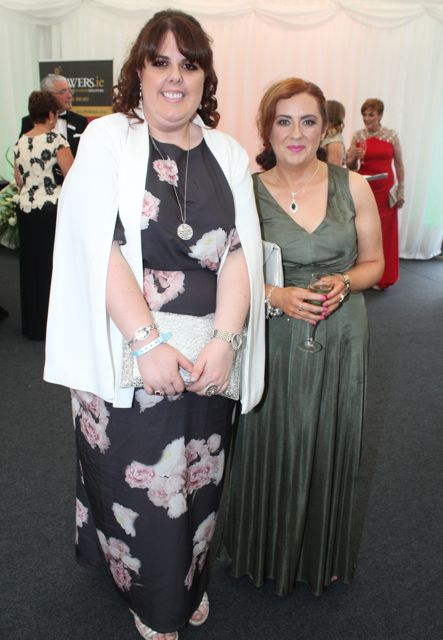 Eileen Ahern and Elaine Breen at the Rose Ball on Friday evening. Photo by Dermot Crean