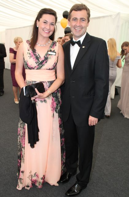 Colleen Gallagher and Mark Daly at the Rose Ball on Friday evening. Photo by Dermot Crean