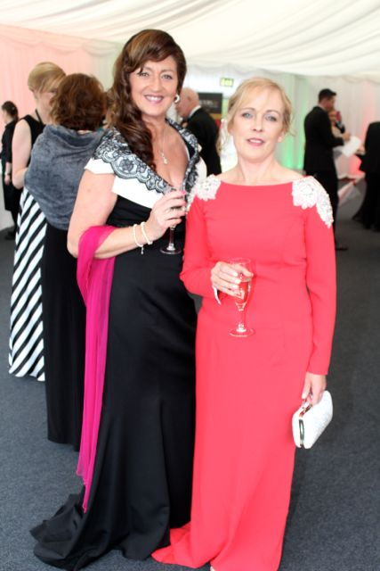 Maria Guthrie and Roisin Hourigan at the Rose Ball on Friday evening. Photo by Dermot Crean