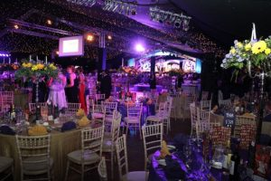 The inside of the Dome for the Rose Ball on Friday evening. Photo by Dermot Crean