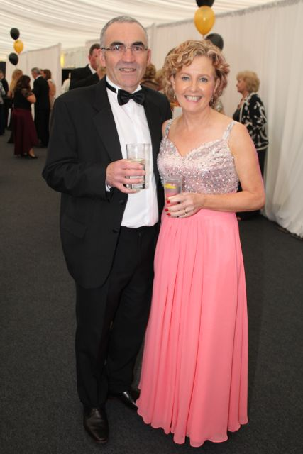 John and Monica Naughton at the Rose Ball on Friday evening. Photo by Dermot Crean