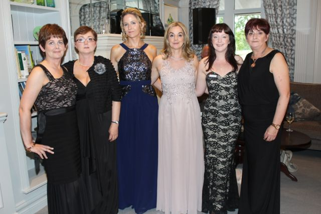 Claire Connolly, Mary Connolly, Norma Purtill, Catherine Keating, Chelsea Thursby Milovanovic and Anne Connolly at The Rose Hotel before the Rose Ball on Friday evening. Photo by Dermot Crean