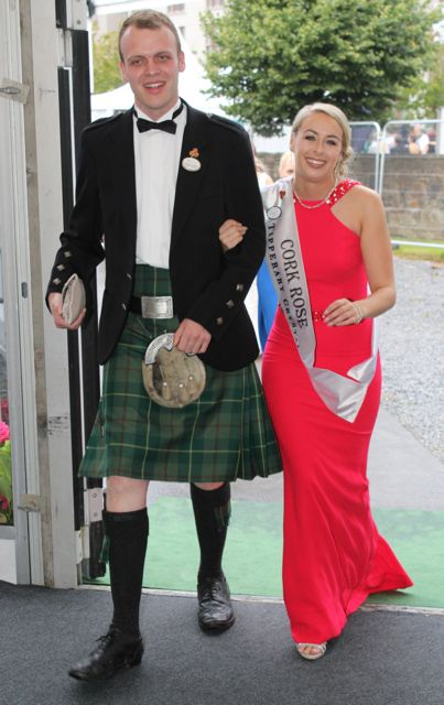 The Cork Rose arriving at the Rose Ball on Friday evening. Photo by Dermot Crean