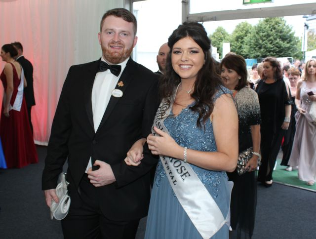 The Yorkshire Rose with Churchill man Shane Kenny arriving at the Rose Ball on Friday evening. Photo by Dermot Crean