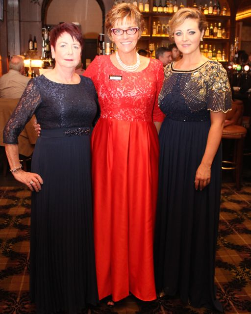 Colette Murray, Denise McConville and Sharon Preston at The Rose Hotel before the Rose Ball on Friday evening. Photo by Dermot Crean