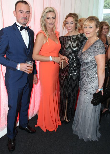 Pa Kelly, Toireasa Ferris, Fiona Leahy and Lisa O'Carroll at the Rose Ball on Friday evening. Photo by Dermot Crean