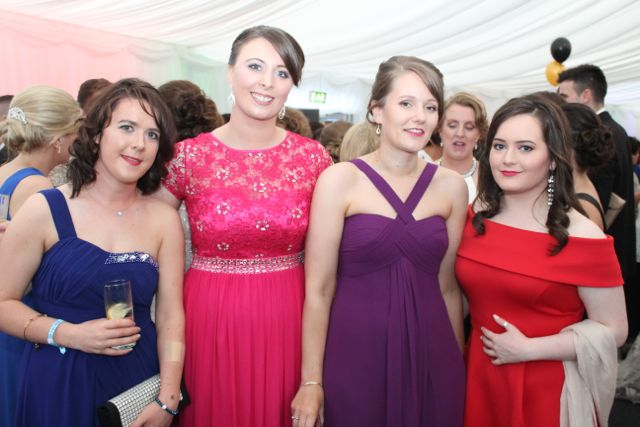 Mairead Egan, Philomena Knightly, Caitriona Knightly and Ciara Kenny at the Rose Ball on Friday evening. Photo by Dermot Crean