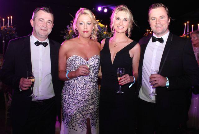 Brendan O'Sullivan, Denise O'Riordan, Mr and Mrs Ashley Tobin at the Rose Ball on Friday evening. Photo by Dermot Crean