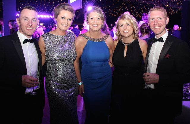 Chris and Helen Lyne, Caroline Lovegrove, Niamh Noonan and Tom Baker at the Rose Ball on Friday evening. Photo by Dermot Crean