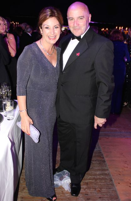 Caroline and Colm Lynch at the Rose Ball on Friday evening. Photo by Dermot Crean