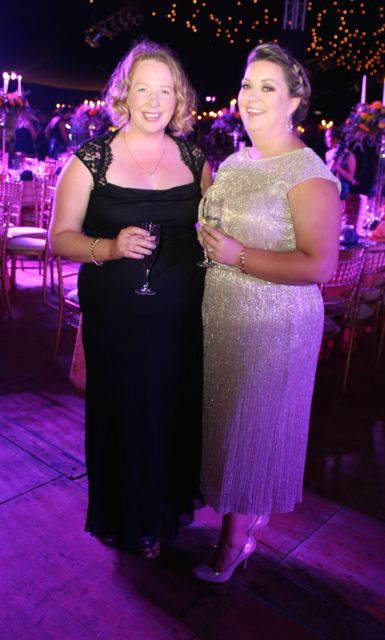 Norma Hayes and Maura Murphy at the Rose Ball on Friday evening. Photo by Dermot Crean