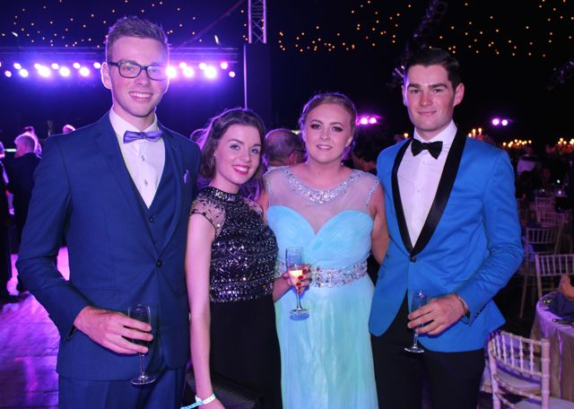 Eoin Costello, Sarah Costello, Shona Regan and Micheal Costello at the Rose Ball on Friday evening. Photo by Dermot Crean