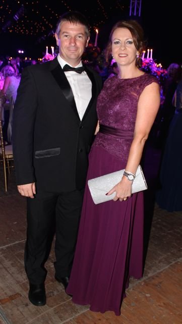 John and Deirdre Mason at the Rose Ball on Friday evening. Photo by Dermot Crean
