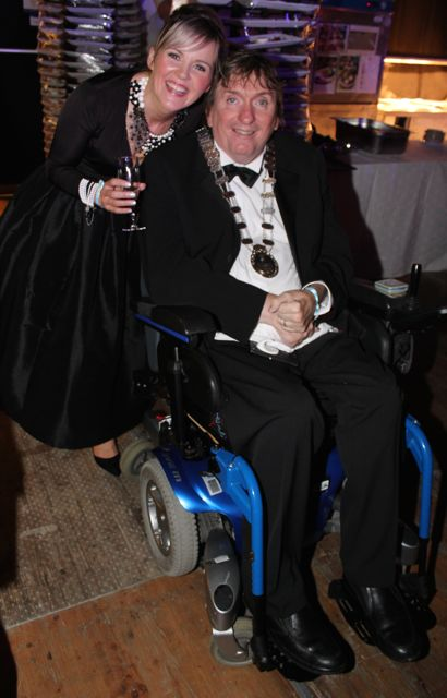 Teresa and Terry O'Brien at the Rose Ball on Friday evening. Photo by Dermot Crean