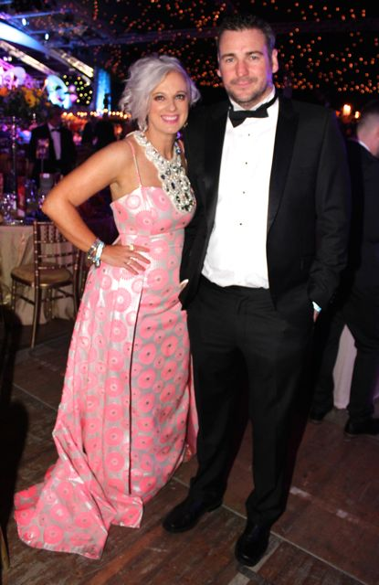 Orlagh Winters and Sean Byrne at the Rose Ball on Friday evening. Photo by Dermot Crean